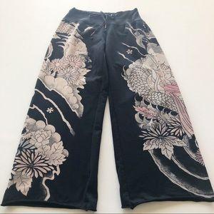 Lucky Brand Asian Geisha Print Sweatpants